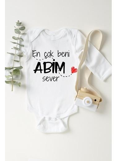 Happy Onesie Co Abim Sever Uzun Kol Çıtçıtlı Bebek Body Beyaz
